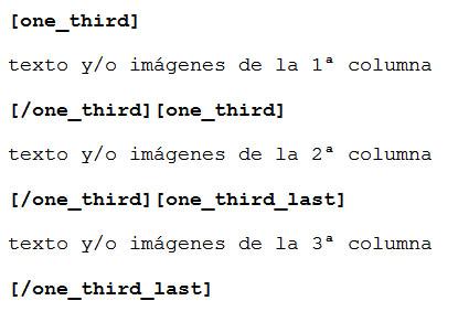 Figura 2: Estructura para tres columnas iguales