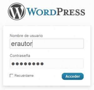 Acceso a WordPress