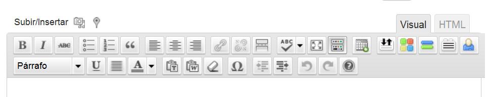 Todos los botones de edición