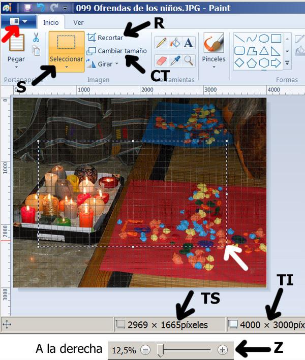 Figura 2: Interfaz del programa Paint
