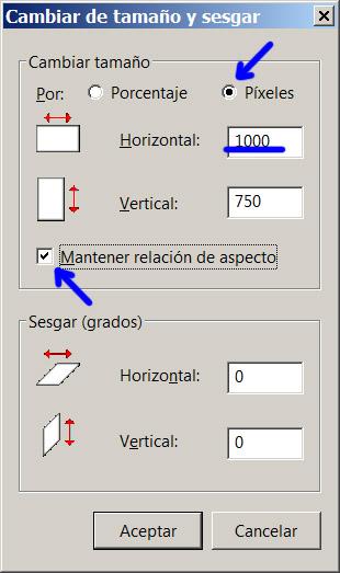 Figura 4. Reducir resolución a 1000 píxeles de ancho