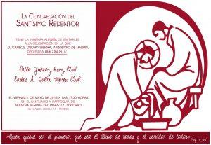Invitación Diaconado-Pablo y Carlos