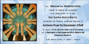 Diaconado Antonio Puerto