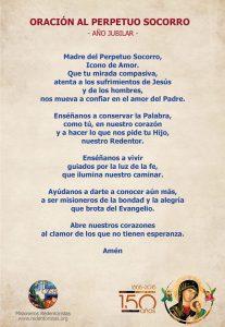 Oración Perpetuo Socorro